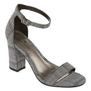 Worthington Beckwith Black & White Heeled Sandals